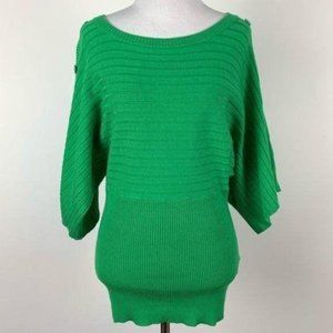 New Joseph A sweater Dolan sleeves size S green